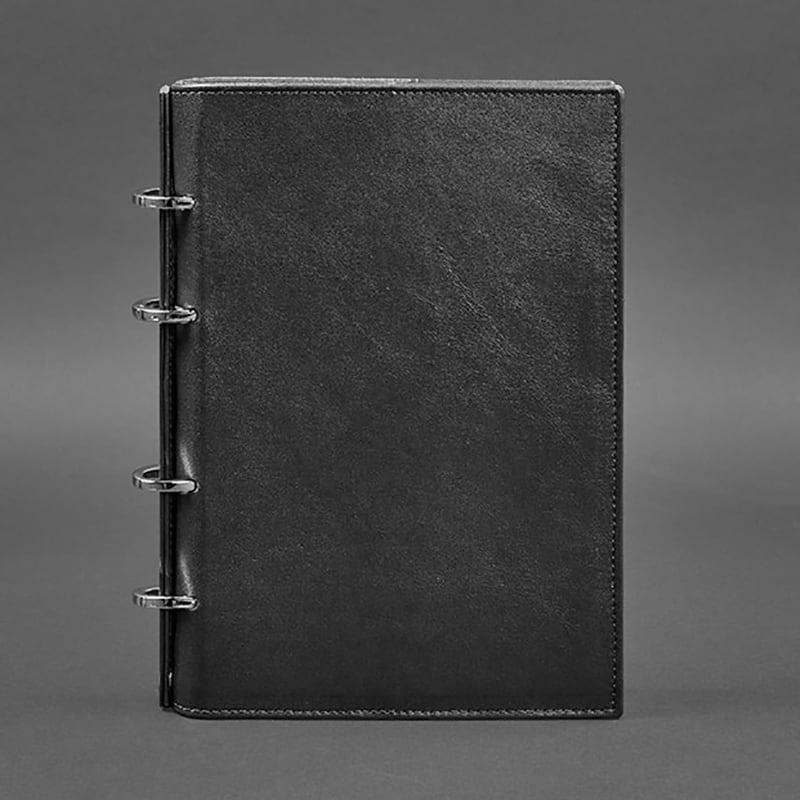 Блокнот Шкіряний А5 на кільцях Notebook Вlack Leather