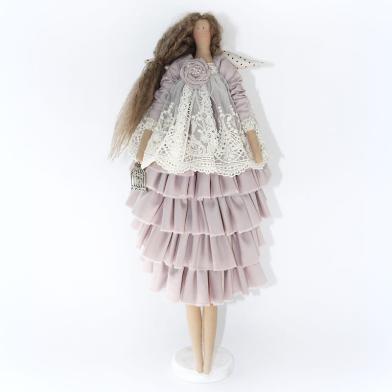 Интерьерная игрушка Ангел в Кружевах Тильда