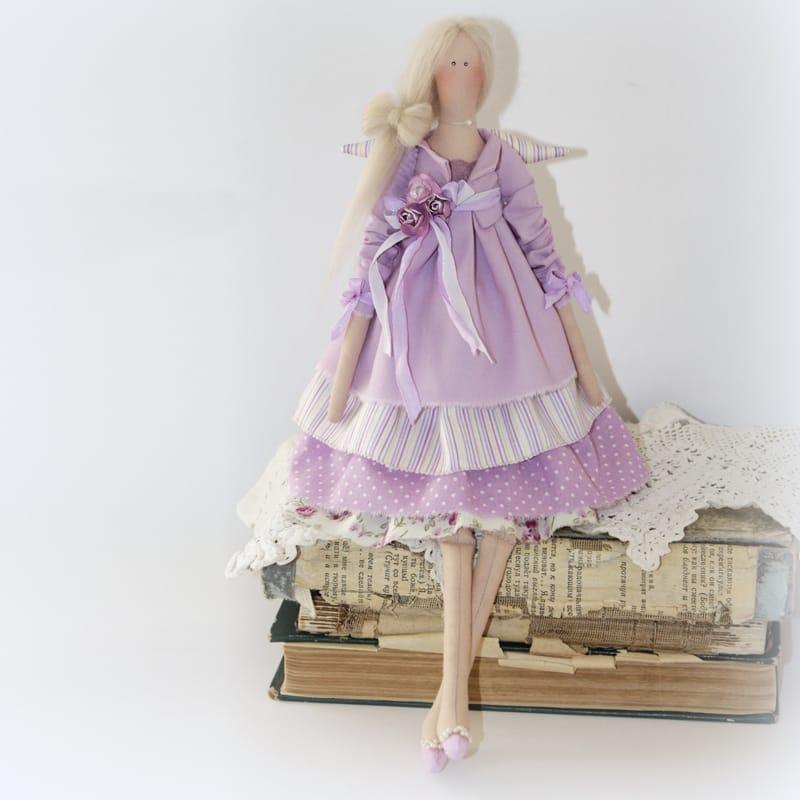 Оригинальная кукла Сиреневый Ангел в стиле Тильда