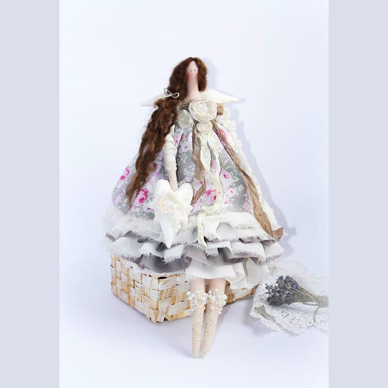 Изысканная кукла Hand-made Ангел с Жемчугом в стиле Тильда