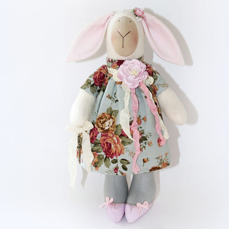Яркая дизайнерская кукла Весенняя Овечка Тильда