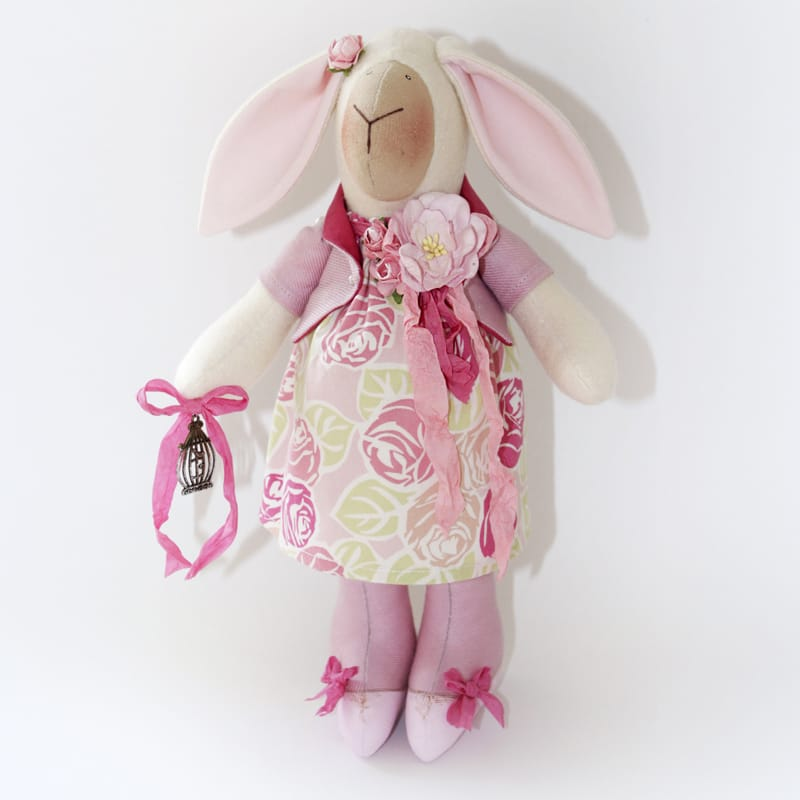 Красивая дизайнерская кукла Летняя Овечка Тильда