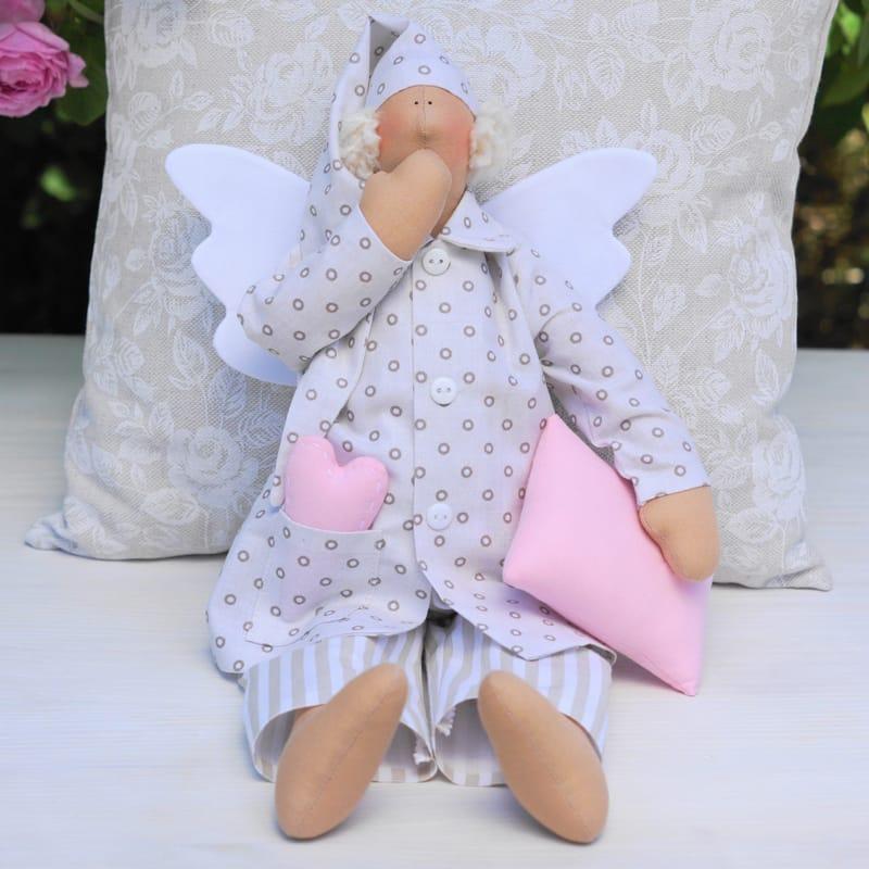 Дизайнерская кукла Тильда Сонный Ангел