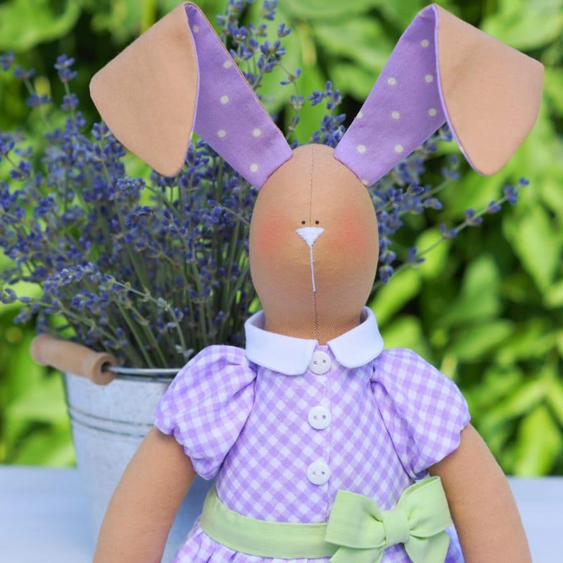 Лялька Тільда Handmade Лавандовий Кролик