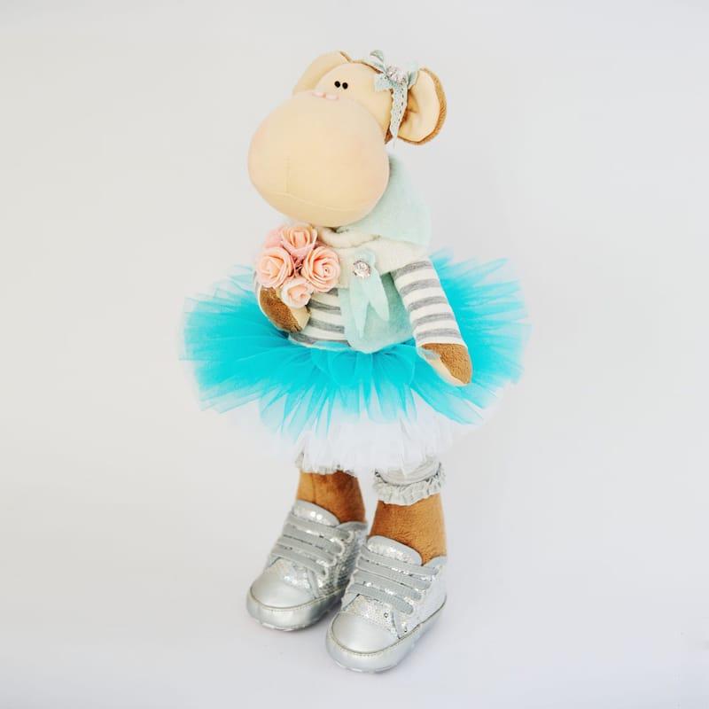 Дизайнерская игрушка Handmade Обезьянка – танцовщица