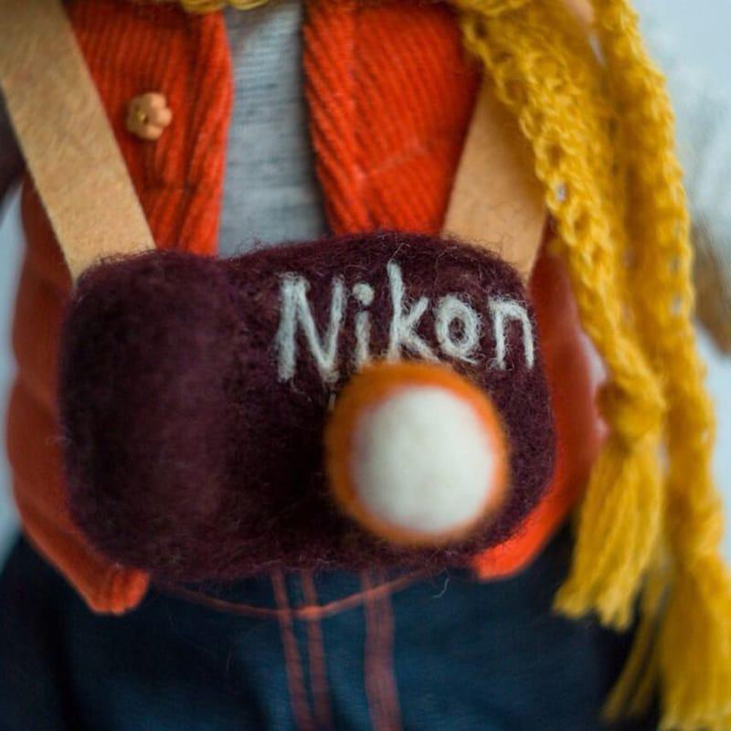 Дизайнерская кукла Обезьянка – фотограф