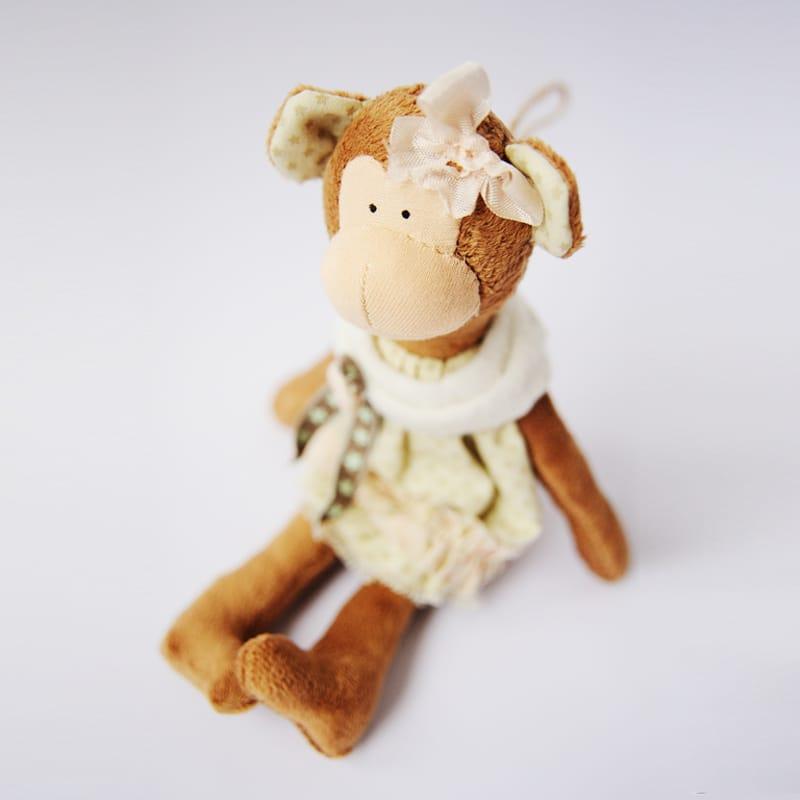 Дизайнерская игрушка Handmade Плюшевая Обезьянка