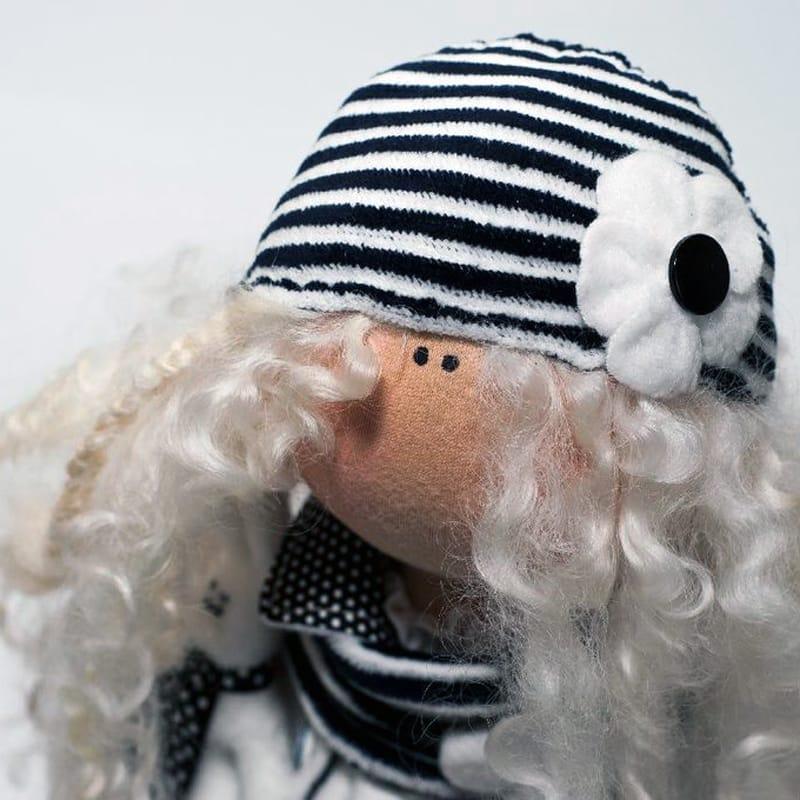 Дизайнерская кукла Черно-белый Ангел в стиле Тильда