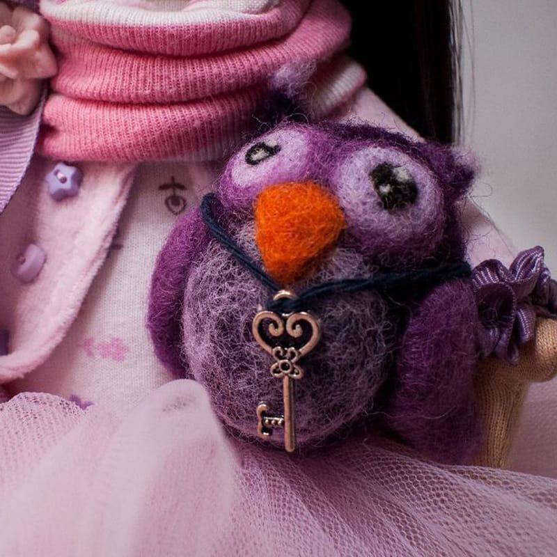Прелестная игрушка Кукла с Совёнком