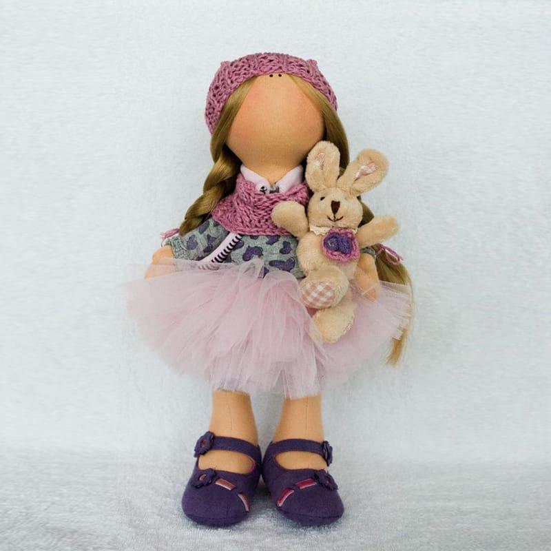 Роскошная коллекционная дизайнерская игрушка Кукла с Кроликом