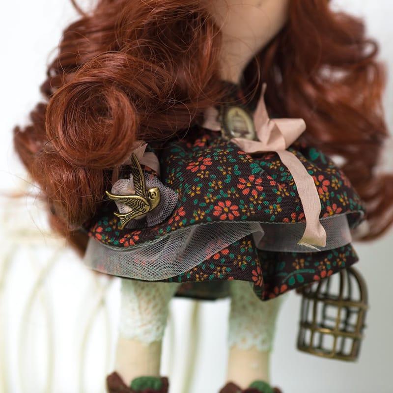 Нand made коллекционная кукла Девушка с камеей