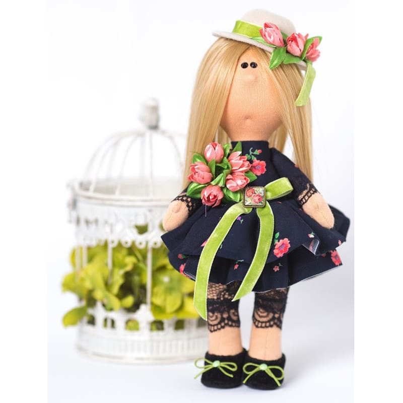 Нand made кукла из текстиля в подарок Леди в Шляпке