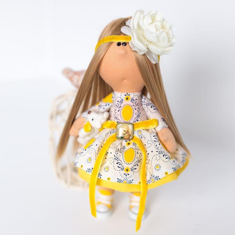 Коллекционная кукла hand made Девочка с Белым Цветком
