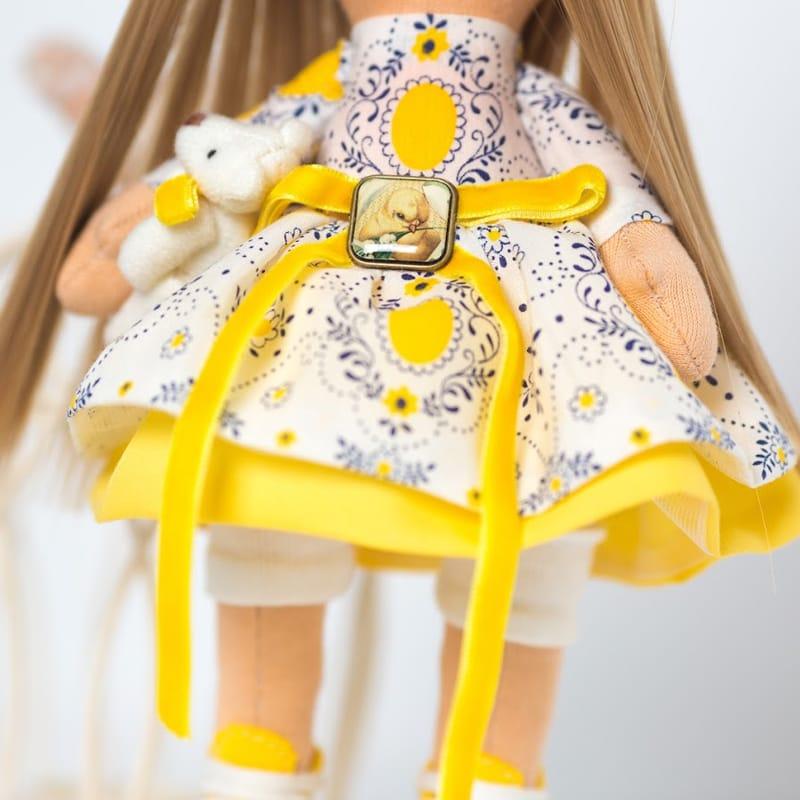 Кукла интерьерная Девочка с Цветком