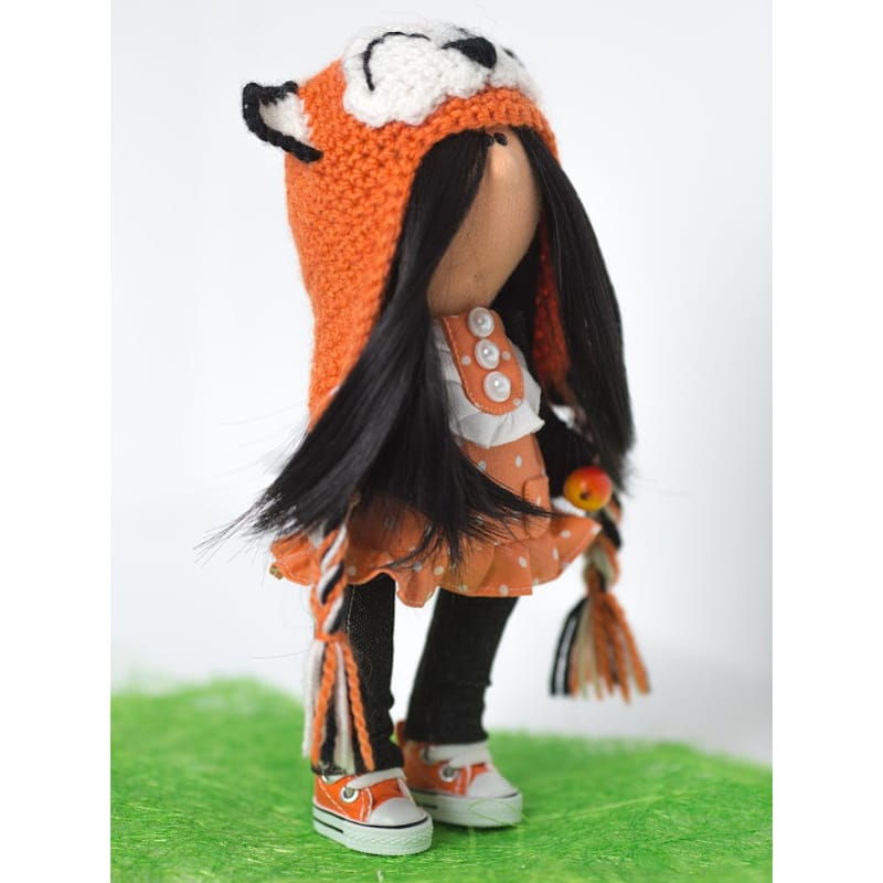 Кукла текстильная Девочка Кошка
