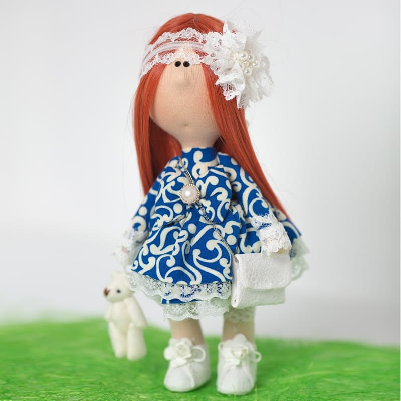 Дизайнерская кукла из текстиля Девочка в Белых Кружевах