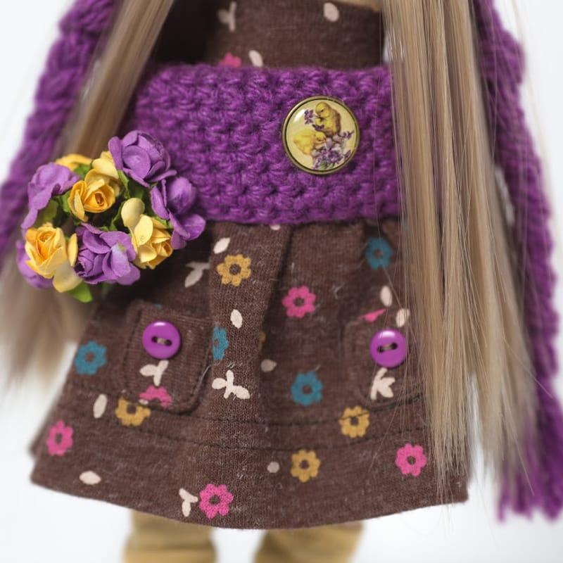 Лялька Дівчинка в шапочці Бузкова Сова
