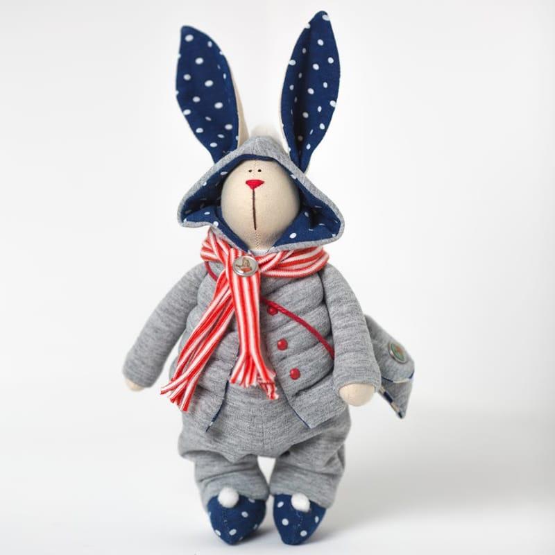 Уникальная кукла hand made Зайчик в Капюшоне Тильда