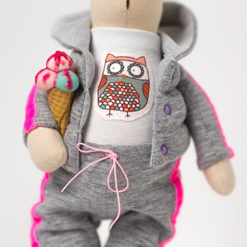 Нand made кукла Зайка с Мороженым Тильда