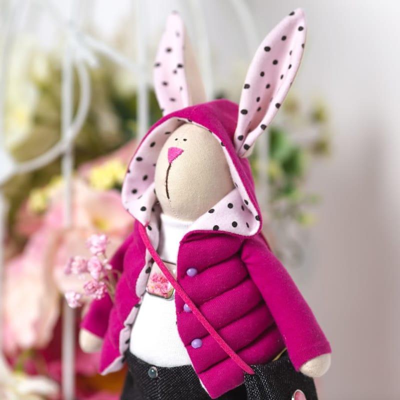 Оригинальная кукла Зайка в Розовой Куртке Тильда