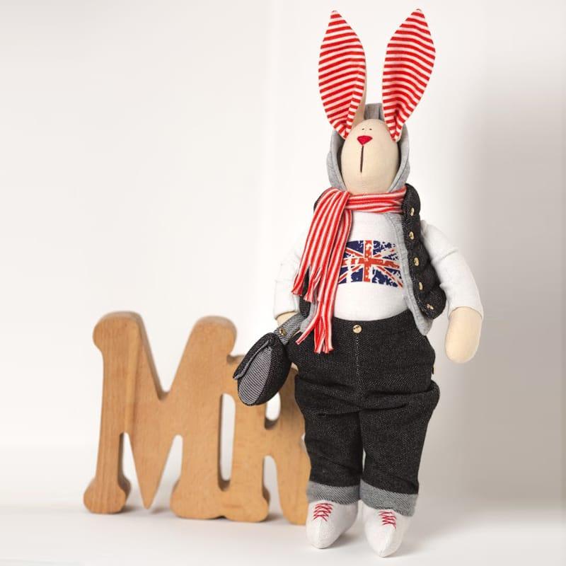 Дизайнерська лялька Зайчик з Британським Прапором