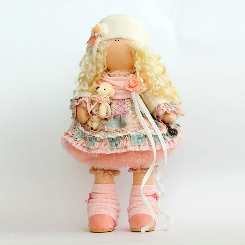 Лялька Тільда Дівчинка з Ведмедиком