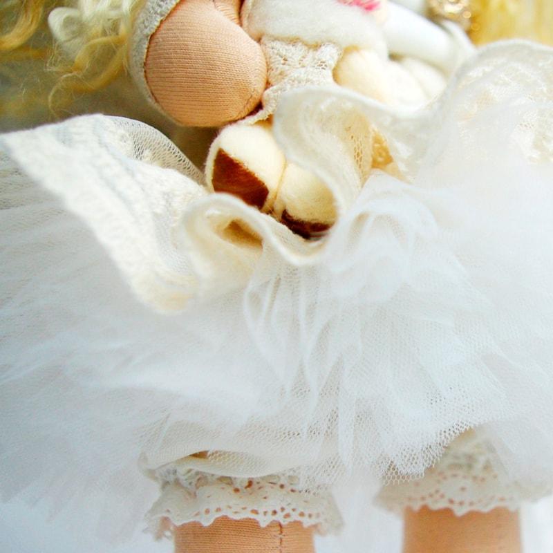 Кукла Тильда Ангел с медвежонком