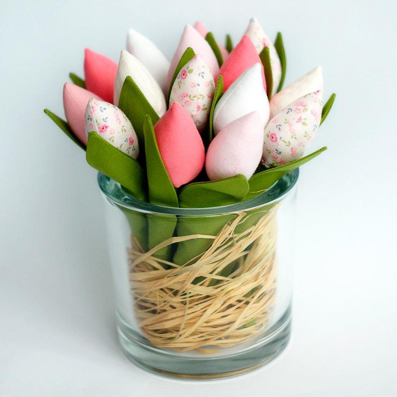Цветы handmade в подарок Тюльпаны Тильда