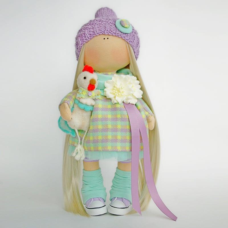 інтер'єрна Лялька Дівчинка з Півником