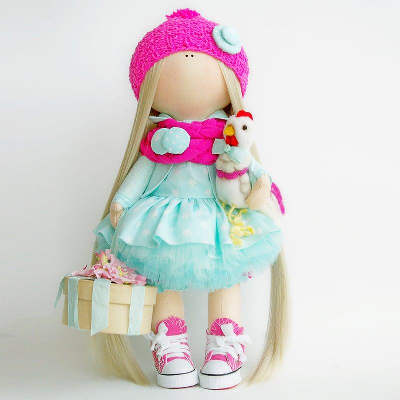Кукла коллекционная hand made в подарок Девочка с Тортом