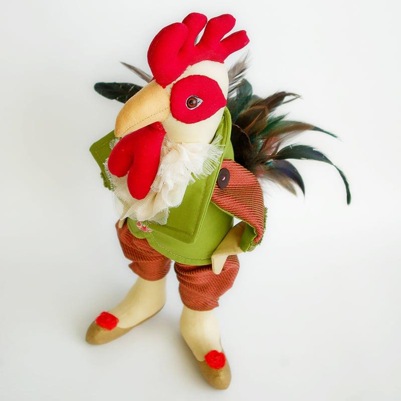 Новогодняя кукла ручной работы в подарок Удачливый Петушок