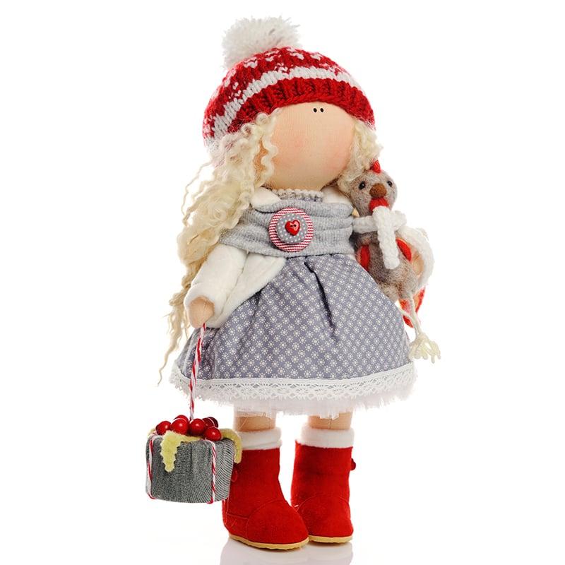 Кукла коллекционная hand made в подарок Девочка и Новый Год