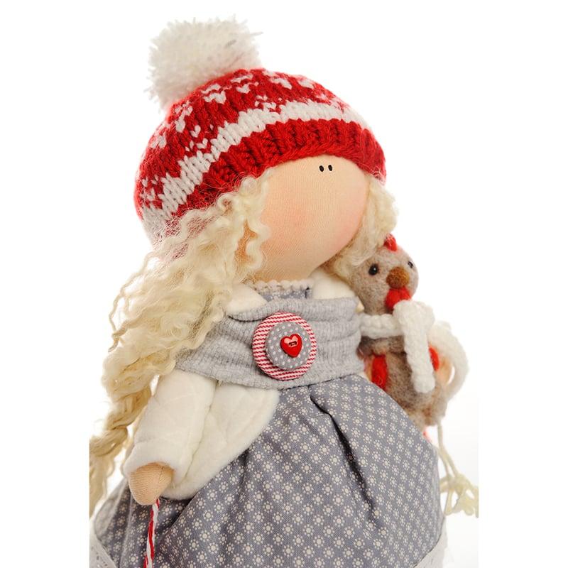 текстильна Лялька Дівчинка і Новий Рік