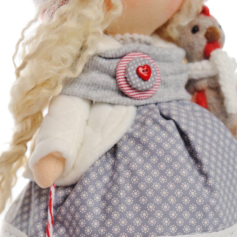 Кукла текстильная Девочка и Новый Год