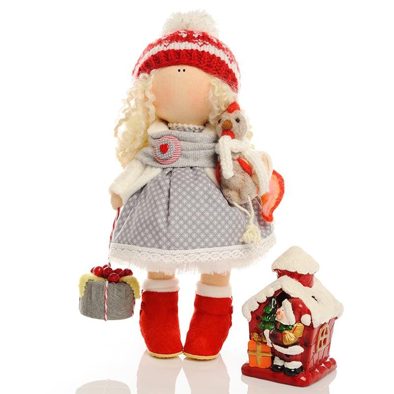 Колекційна лялька hand made у подарунок Дівчинка і Новий Рік