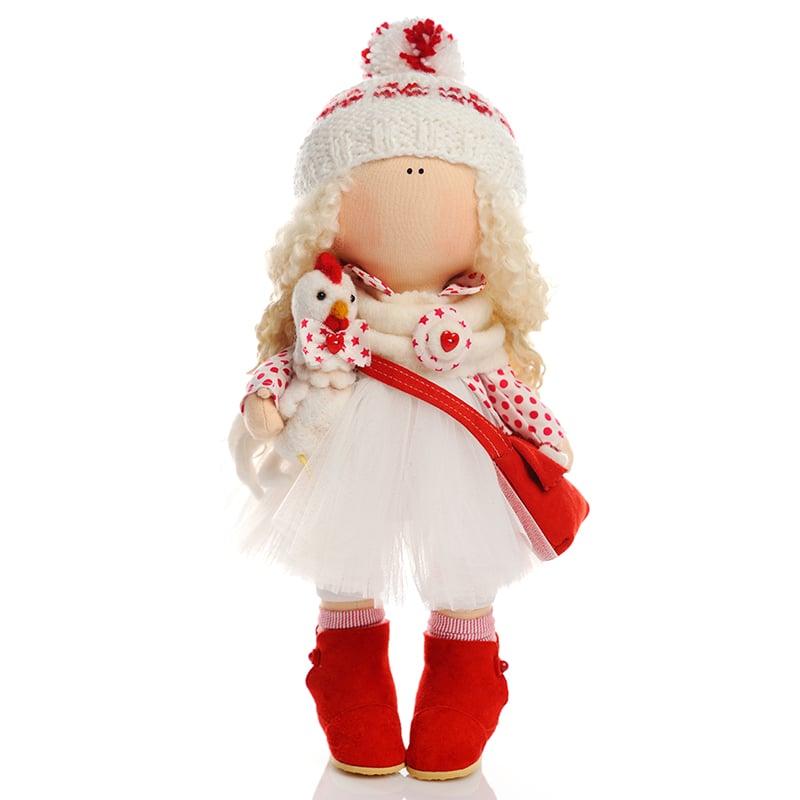 Кукла hand made в подарок Девочка в Год Петушка