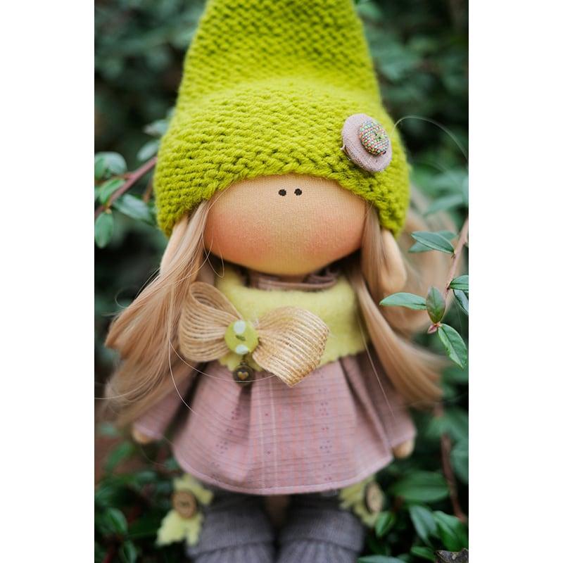 Текстильна лялька Гномик Веселун