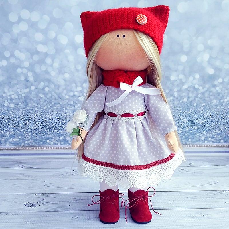 Интерьерная кукла тильда ручной работы Гертруда