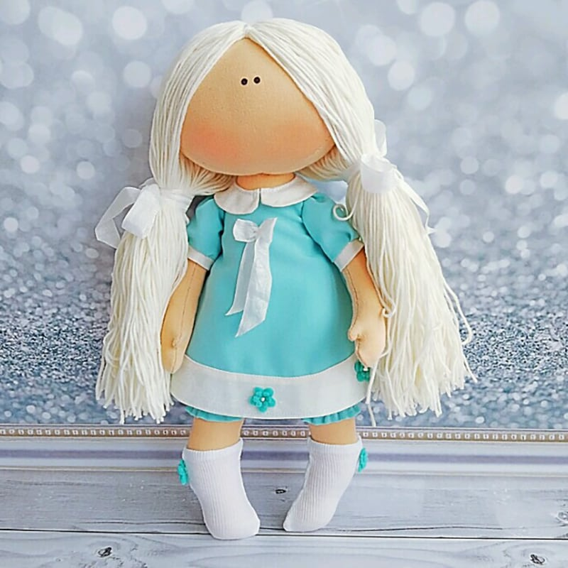 Дизайнерская интерьерная кукла тильда Фрида