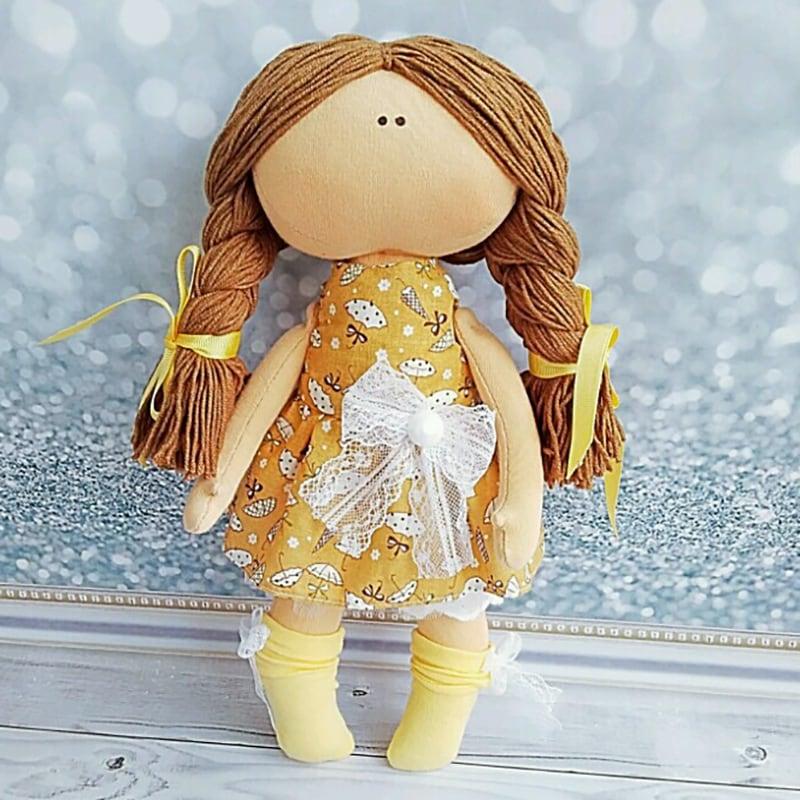Авторская коллекционная кукла тильда Эрмелинда