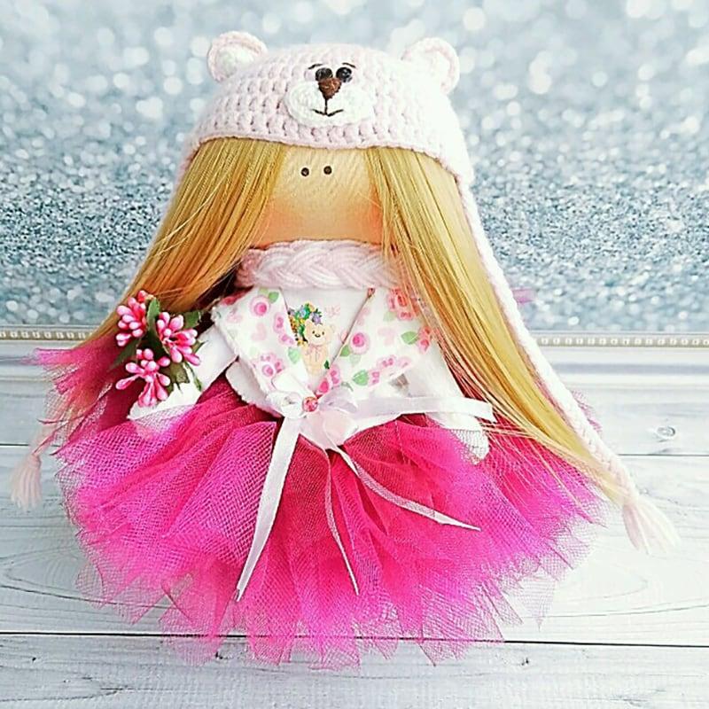 Интерьерная кукла тильда ручной работы Хлоя
