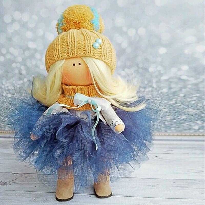 Интерьерная кукла тильда Ребекка