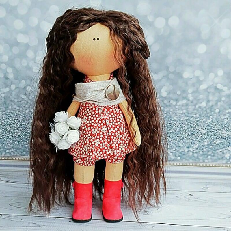 Интерьерная кукла handmade Сабина