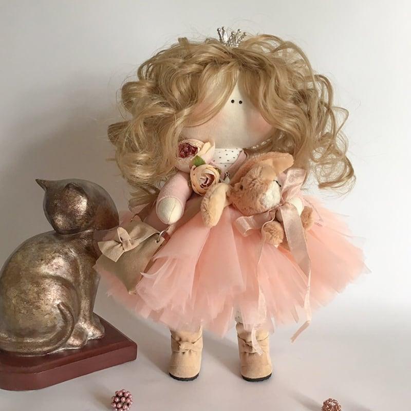 Дизайнерская интерьерная кукла в подарок Генриетта