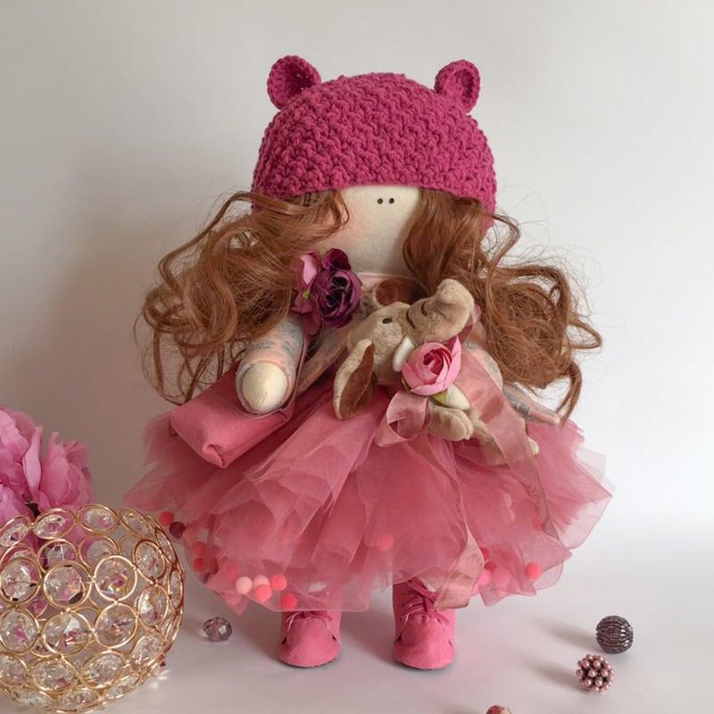 Интерьерная кукла тильда Принцесса Эсмеральда