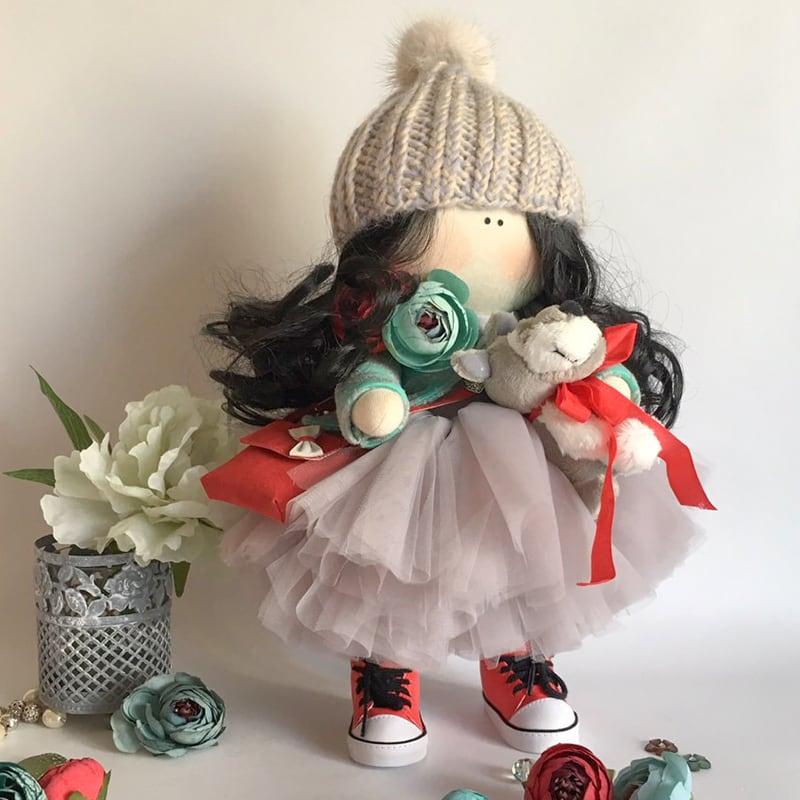 Кукла интерьерная handmade в подарок Марго