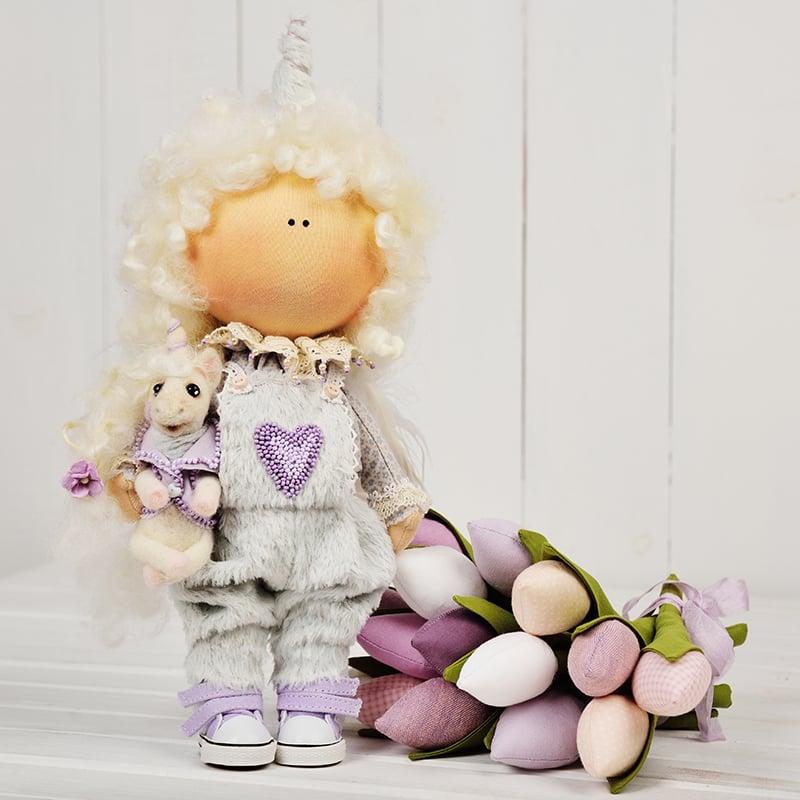 Кукла интерьерная ручной работы Сильва