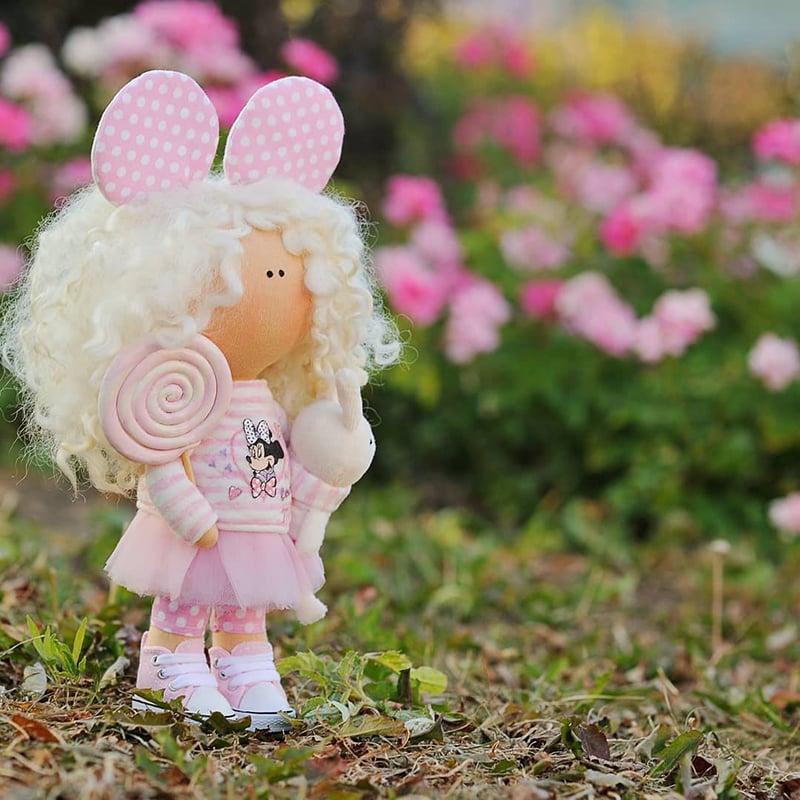 Авторская кукла тильда в подарок Ивон