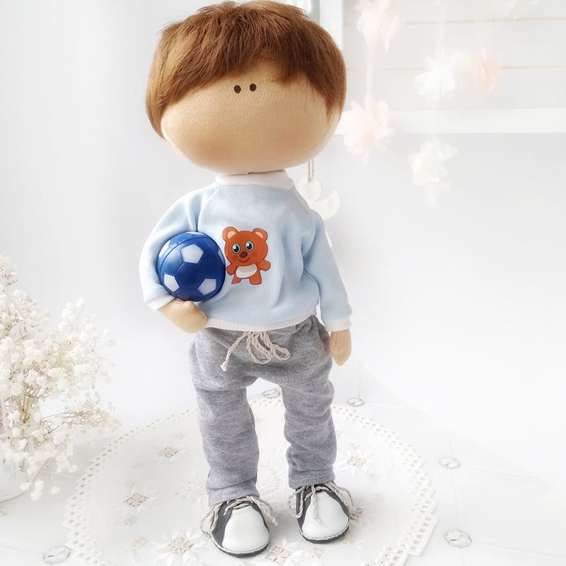 Интерьерная кукла Том-футболист