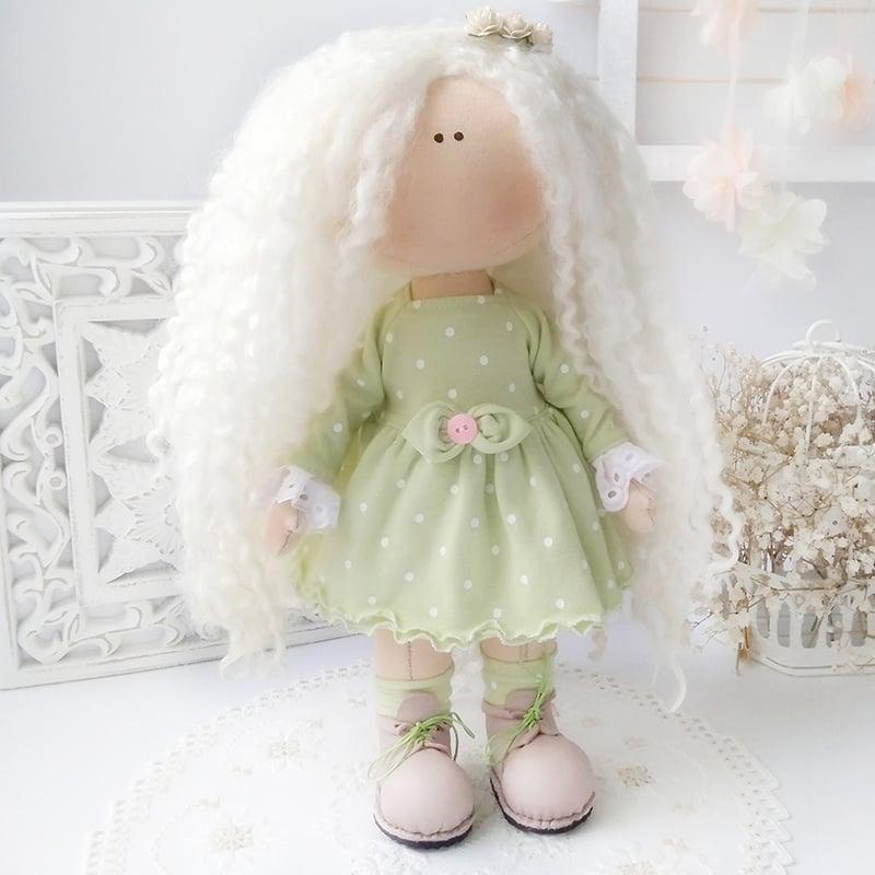 Уникальная дизайнерская интерьерная кукла Маленькая Тильда